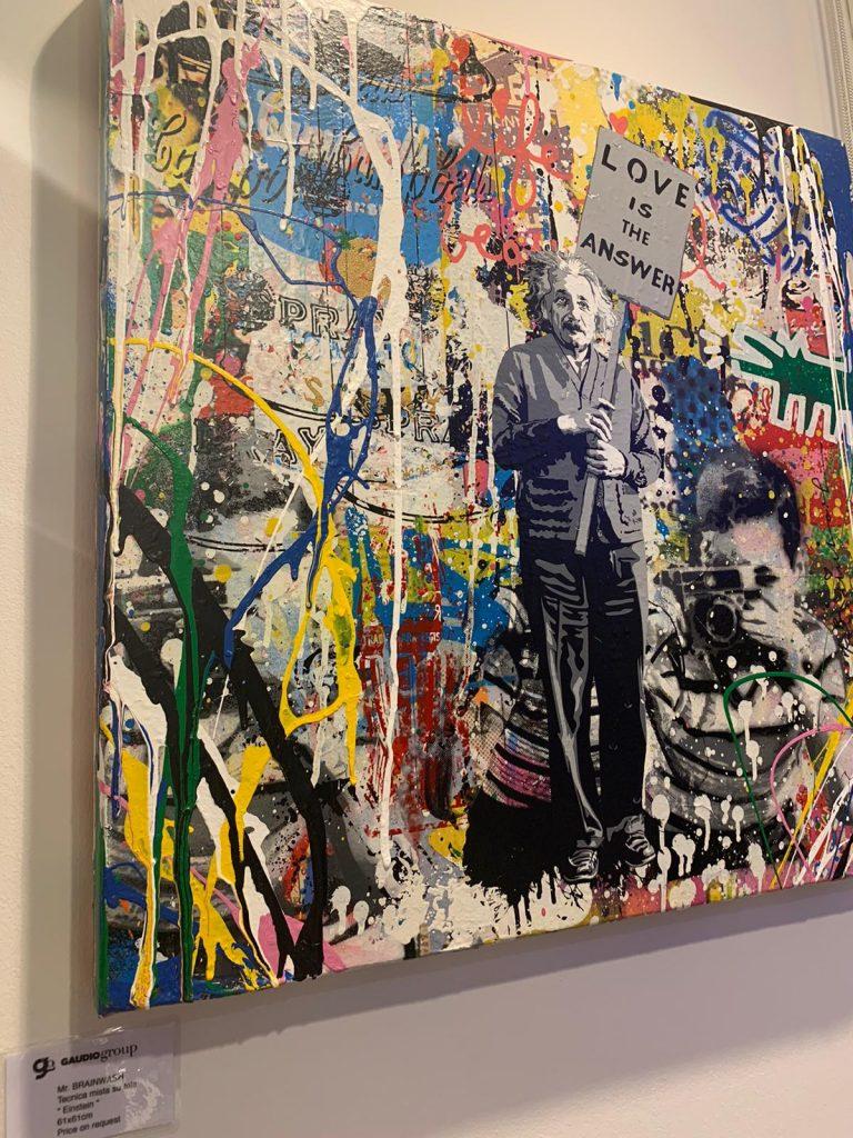 Painting Einstein - Mr. BRAINWASH 0 for sale For Super Rich