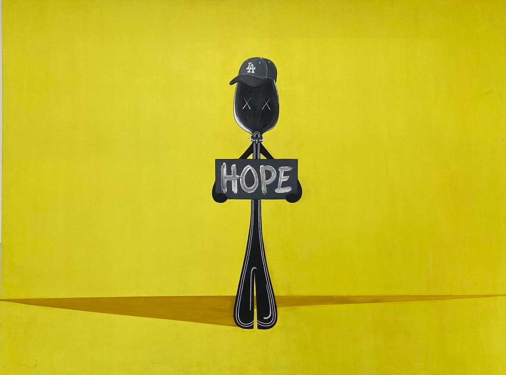 Painting HOPE - MR. SPOON for sale For Super Rich