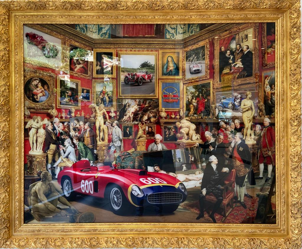 Painting Mille Miglia - MARCO BATTAGLINI for sale For Super Rich