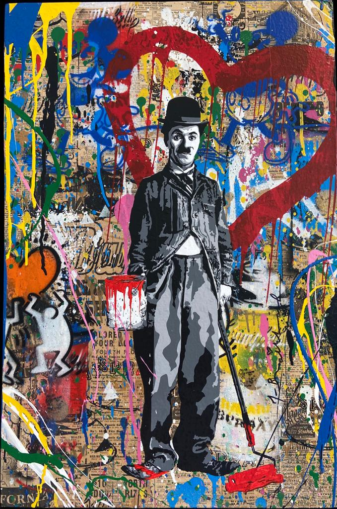 Painting Time Will Tell - Mr. BRAINWASH  for sale For Super Rich