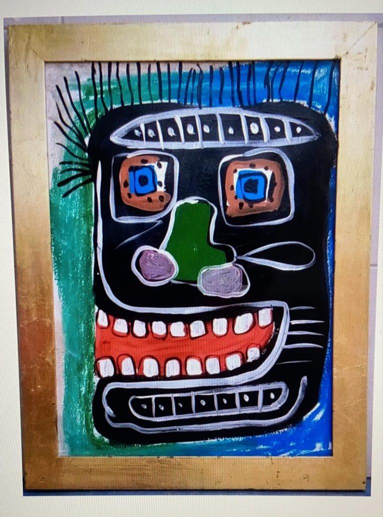 Painting, Jean Michel Basquiat Circa