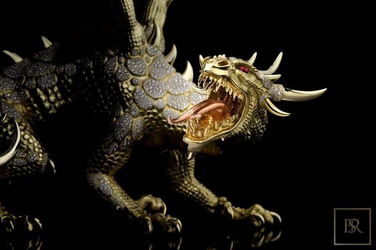 Unique Sculpture Dragon AHTON - GIBERG Luxury for sale For Super Rich