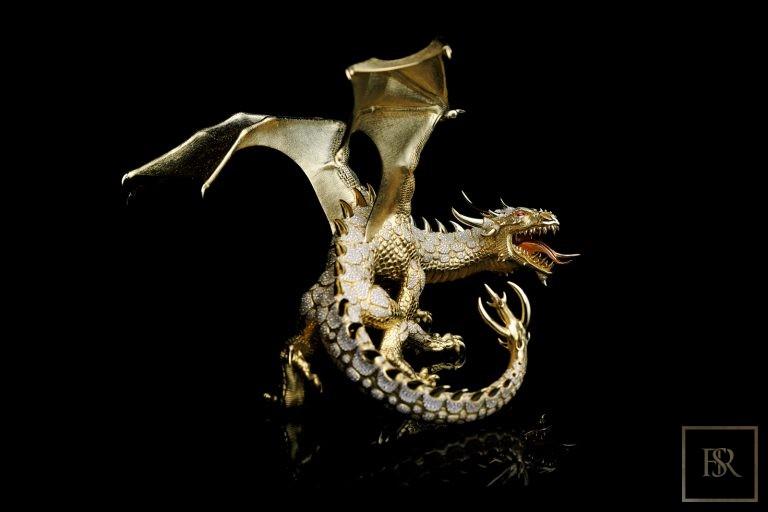 Unique Sculpture Dragon AHTON - GIBERG ultra luxury for sale For Super Rich