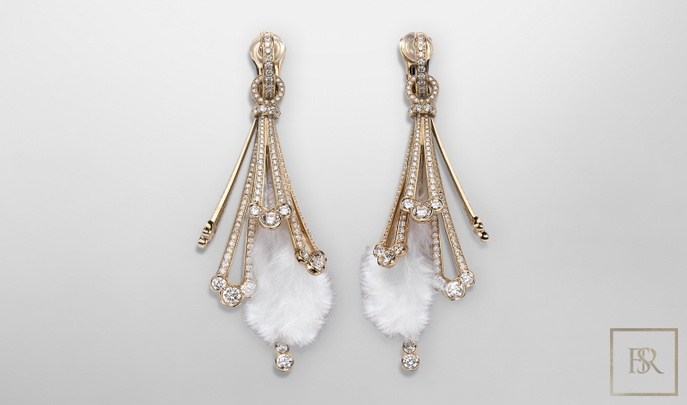 Jewelry, Giberg FEATHER EARRINGS Rose Gold