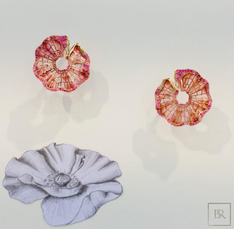 Earrings POPPY'S - SANDRINE TESSIER 51000 for sale For Super Rich