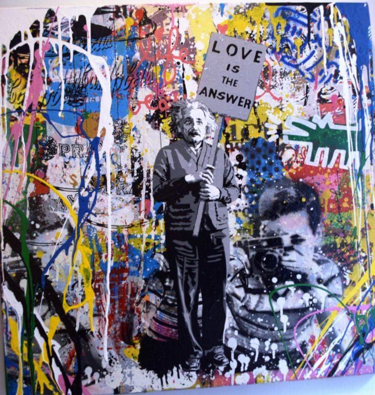 Painting, Mr Brainwash Einstein