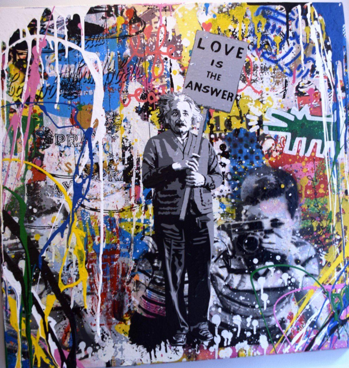 Painting Einstein - Mr. BRAINWASH for sale For Super Rich