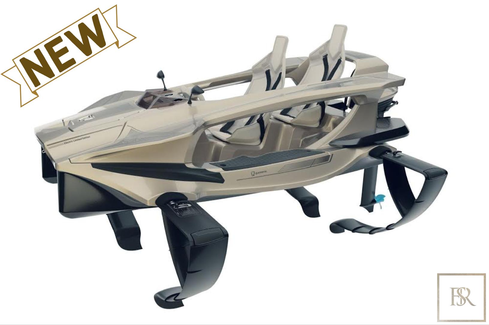 Electric boat - Quadrofoil Q2S Limited Edition for sale For Super Rich