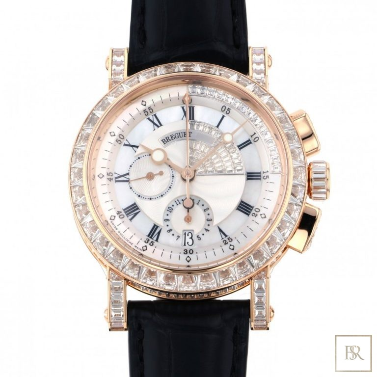 Watch BREGUET Marine Chronograph 43MM 18K rose gold 150000 for sale For Super Rich
