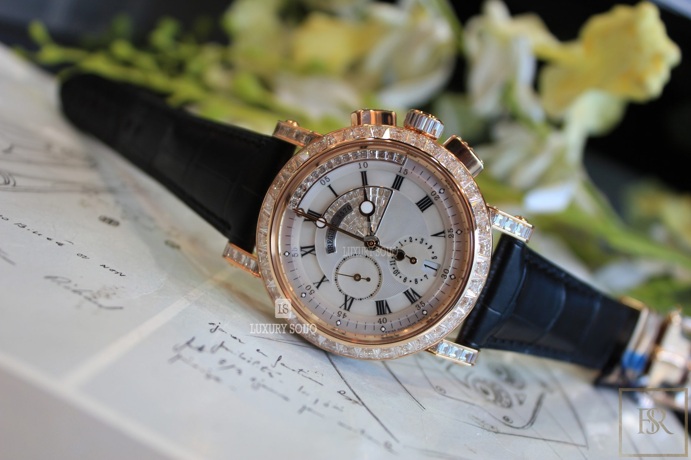 Watch BREGUET Marine Chronograph 43MM 18K rose gold for sale For Super Rich