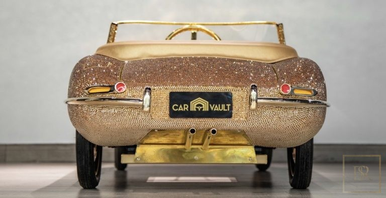 Childs Car SWAROVSKI Encrusted 24K Gold Plated   price country for sale For Super Rich