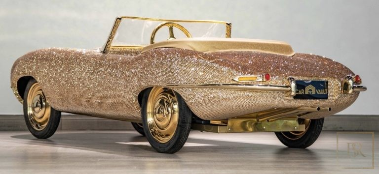 Childs Car SWAROVSKI Encrusted 24K Gold Plated   ultra luxury for sale For Super Rich