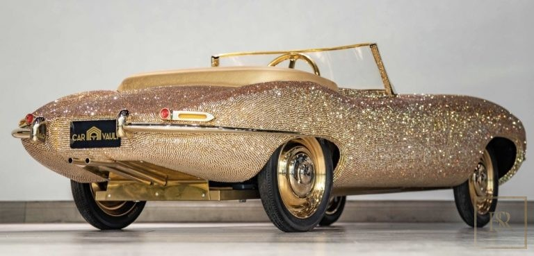 Childs Car SWAROVSKI Encrusted 24K Gold Plated   Luxury for sale For Super Rich