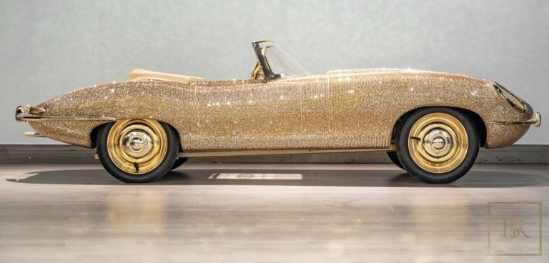 Childs Car SWAROVSKI Encrusted 24K Gold Plated   0 for sale For Super Rich