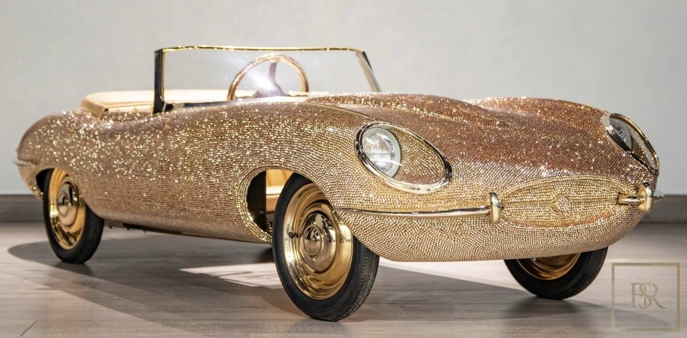 Childs Car SWAROVSKI Encrusted 24K Gold Plated   for sale For Super Rich