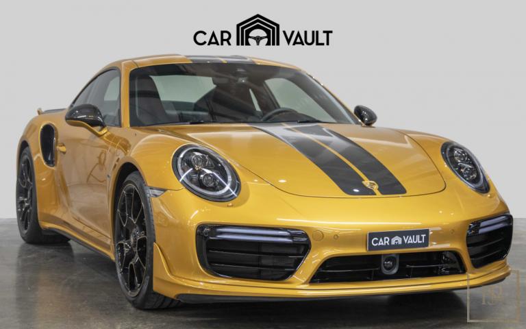 2018 Porsche 911 Turbo S Golden Yellow for sale For Super Rich