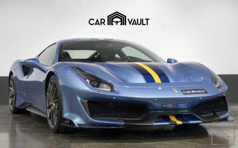2020 Ferrari 488 Pista Blue for sale For Super Rich