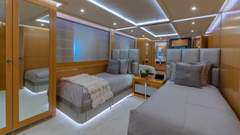 PALMER JOHNSON DB9 52 Meters escape charter rental For Super Rich