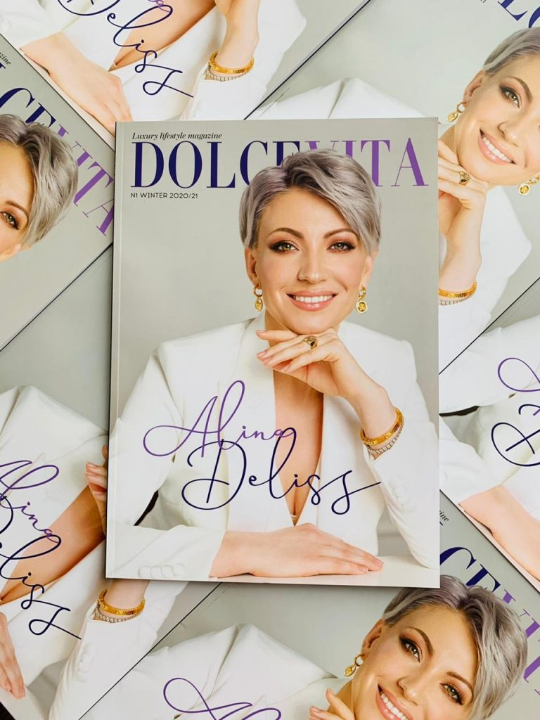Cover page first issue DOLCEVITA Luxury Lifestyle Magazine Russia 2020/2021