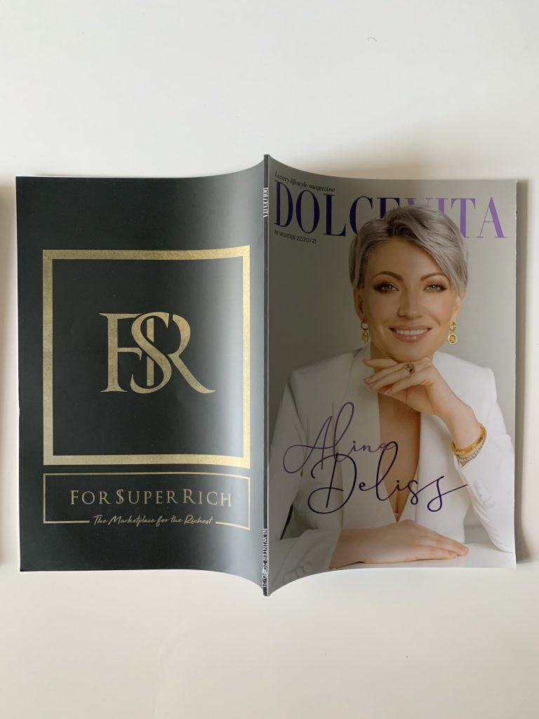Back Cover ForSuperRich.com for the 1st issue DOLCEVITA Luxury Lifestyle Magazine Russia 2020/2021