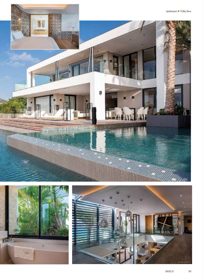 """February 2021 - Publication ForSuperRich.com """"Rental Villa NEO"""" with our partner media Luxury Magazine Hungary"""